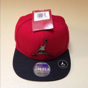 New Air Jordan Athletic Adjustable Snap Cap, Youth